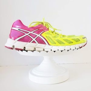Asics 33 Gel-Lyte Neon Yellow Pink Running Shoe 11